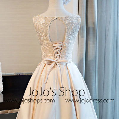 Short Lace Wedding Reception Dress