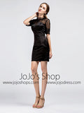 Short Little Black Dress with Sleeves