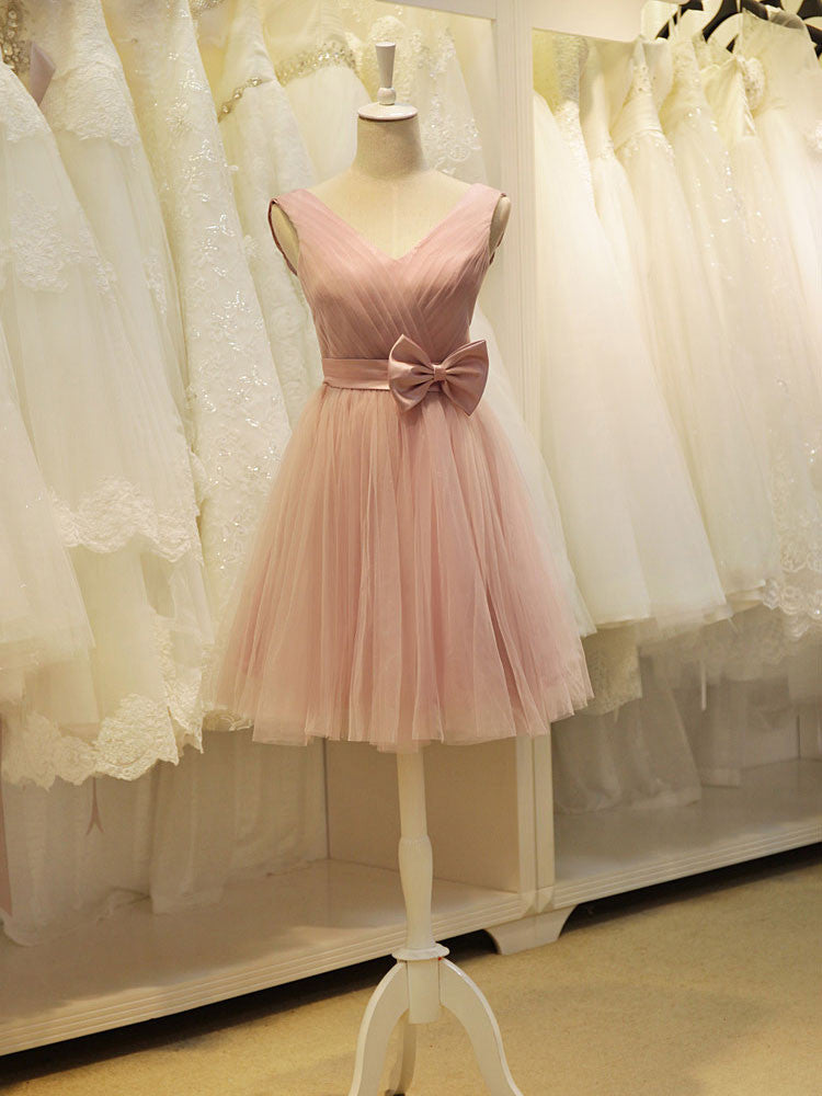 Short Tulle Bridesmaid Dress YW1706