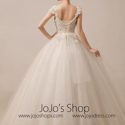 Sparkly Debutante Ball Dress with Straps