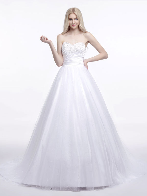 Strapless Wedding Dress with Sweetheart Neckline