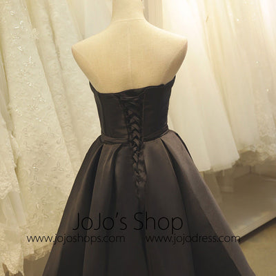 Little Black Satin Formal Dress