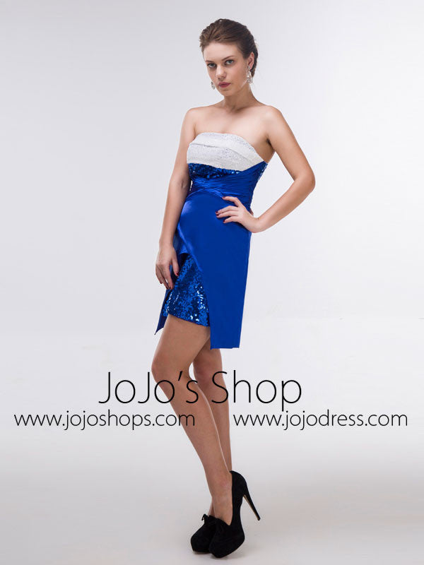 Sexy Short Blue Cocktail Dress