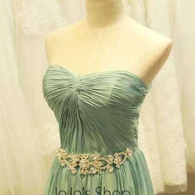 Strapless Long Chiffon Formal Evening Dress