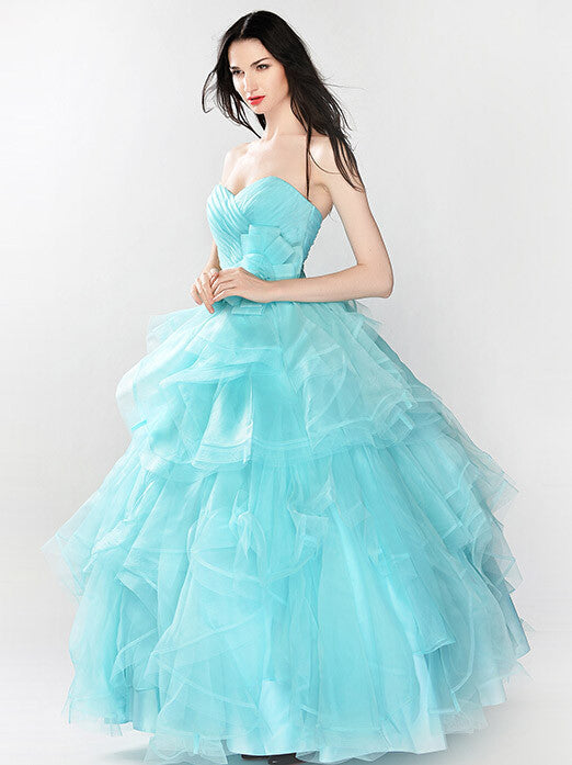 Strapless Ice Blue Ball Gown Prom Formal Dress | RS3015 – JoJo Shop
