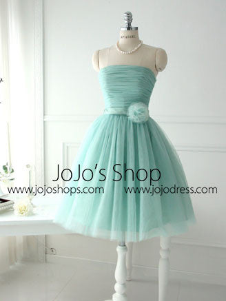 Green Vintage Short Prom Formal Dress Bridesmaid Dress BM102
