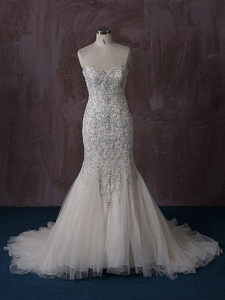 Strapless Mermaid Wedding Dress with Beaded Embroideries – JoJo Shop