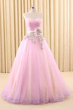 Strapless Pink Home Coming Ball Gown Dress | RS6802