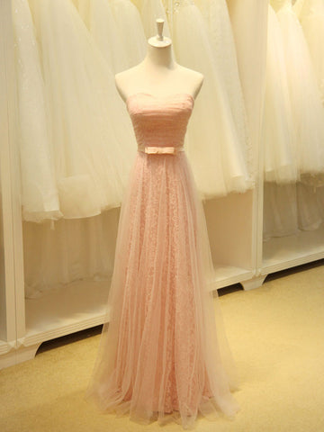 Strapless Blush Pink Fairy Tale Bridesmaid Dress