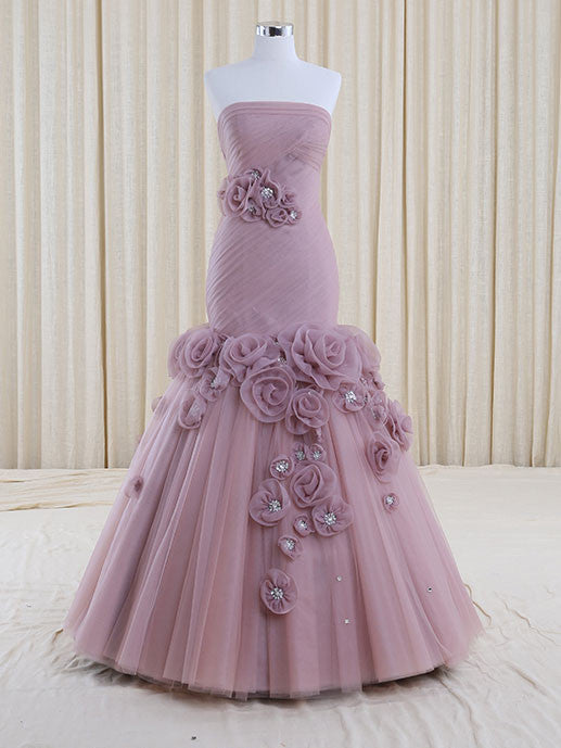 Strapless Purple Mermaid Wedding Dress | RS3006