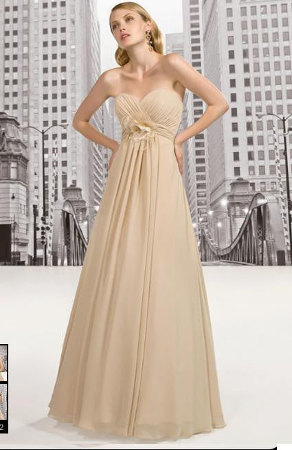 Strapless Empire Waist Prom Dress Evening Dress Formal Dress G2019