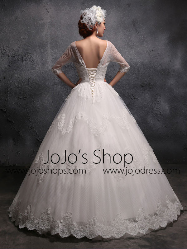 Victorian Vintage Style Lace Debutante Ball Gown Wedding