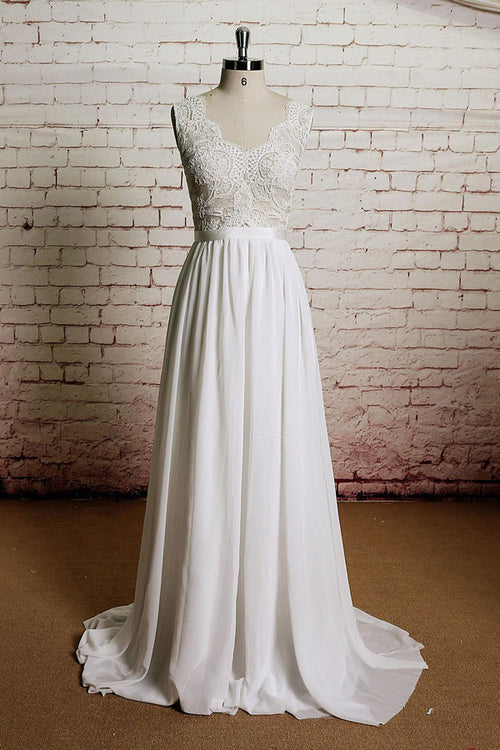 Vintage Inspired French Lace Wedding Dress | EE3004