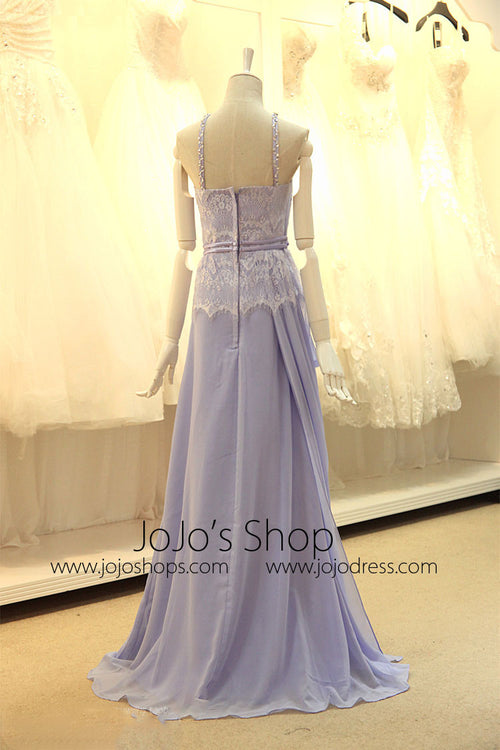 Violet Grecian Chiffon Formal Prom Evening Dress