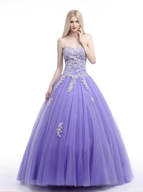 e3c9140eea1 Lavender Strapless Princess Ball Gown Formal Dress