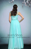 Whimsical Turquoise Grecian Long Formal Prom Evening Dress | DQ831256