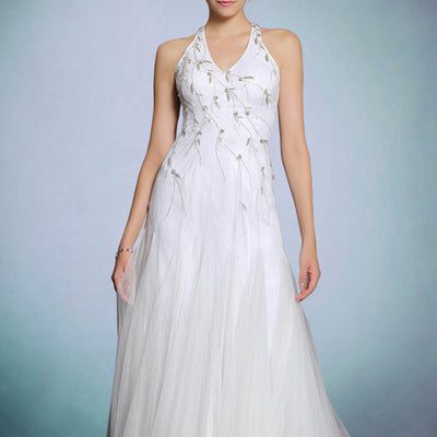 Whimsical White Willow Formal Prom Evening Dress | DQ831250