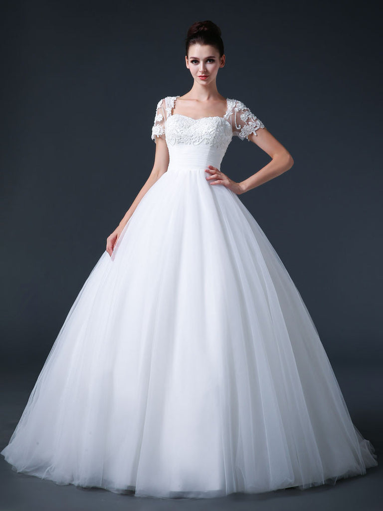 Ball Gown Debutante Dress with Short Sleeves – JoJo Shop