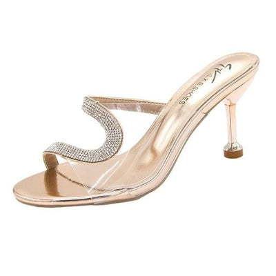 Women's Clear Heel Sandals