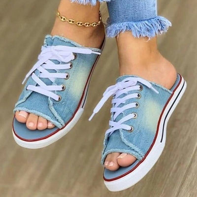Women's Denim Canvas Sandals