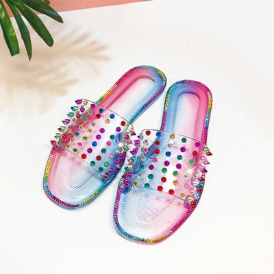 Women's Rivet Slippers Slides