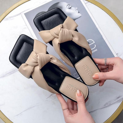 Women's Knotted Slides Sandals