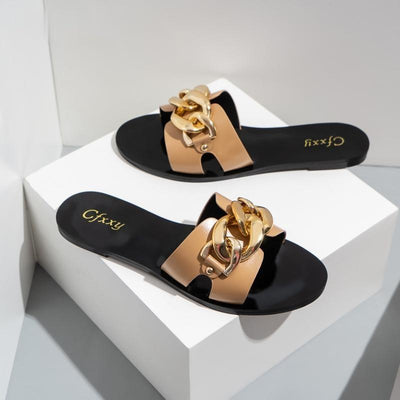 Women's Chain Slides Sandals