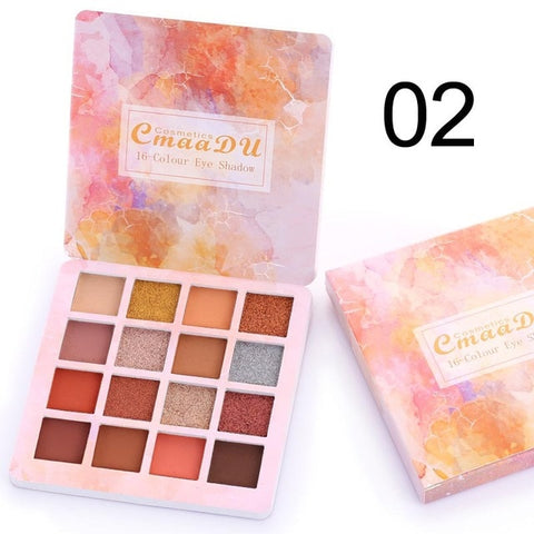 Brand 16Colors Makeup Matte Eyeshadow Pallete Long-lasting Waterproof Eye Shadow Natural Shimmer Eyes Palette Cosmetics TSLM2