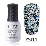 HNM 8ML Diamond UV LED Lamp Nail Gel Bling Glitter Paint Gellak Soak Off Semi Permanent Lucky Lacquer Enamel Gel Nail Polish Ink