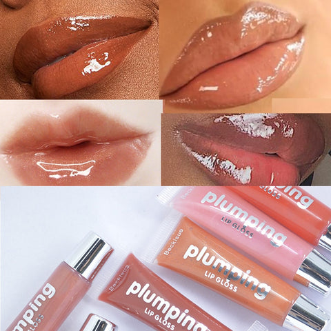 Wet Cherry Gloss Candy Color Lip Gloss Lip Plumper Makeup Waterproof Glitter Liquid Lipstick Batom Matte Liquid TSLM1