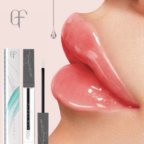 FlashMoment Lip Gloss Moisturizer Plumper Waterproof Lipgloss Makeup Clear Lip Gloss Liquid Transparent Lipgloss Lips Care