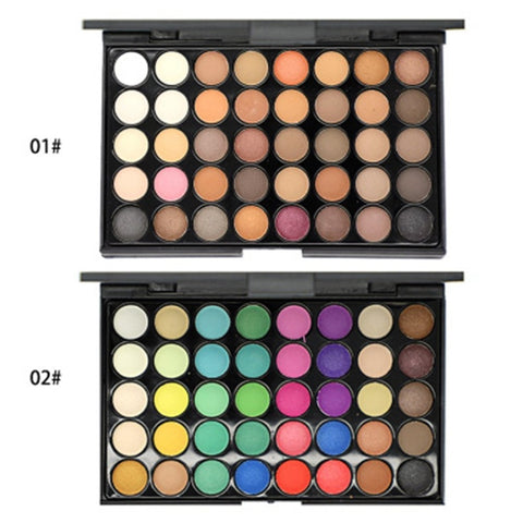 40 Colors Eyeshadow Palette Makeup Waterproof Smoky Pearl Matte Shimmer Eye Shadow Sets  Professional Eyeshadow Glitter Luxury