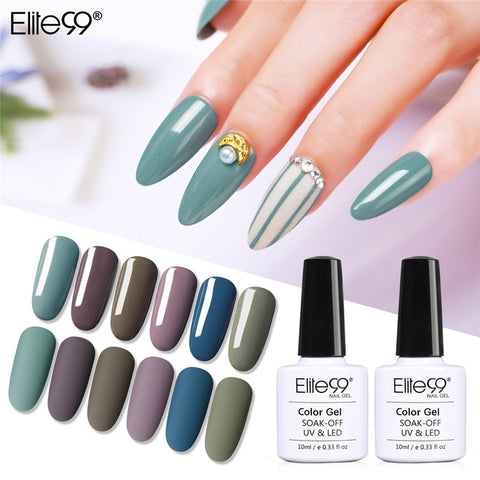 Elite99 Hybrid Varnishes Gel Nail Polish UV Primer All For Manicure Semi Permanent Soak Off 10ML Gel Lak Top Base Nail Lacquer
