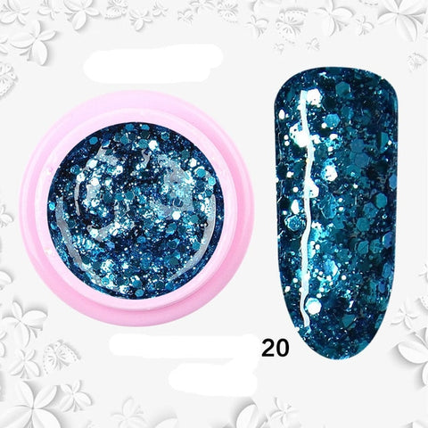 8ml nail glitter Sequins powder uv gel polish hybrid semi permanent soak off led nail gel varnish long lasting nail Lacquer