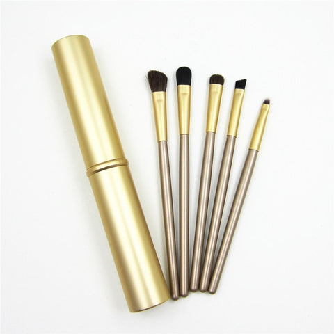 5pcs Travel Portable Mini Eye Makeup Brushes Set Reals Eyeshadow Eyeliner Eyebrow Brush Lip Make Up Brushes kit Professional