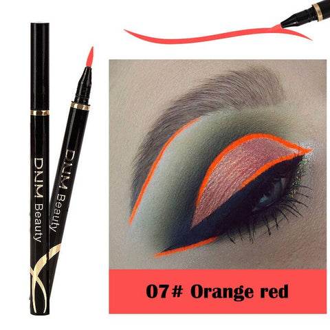 1PCs Matte Eyeliner Waterproof Colorful Liquid Eye Liner Pen Fast Dry Long Lasting Thin Head Party Beauty Makeup Cosmetic Tools