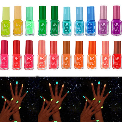 19 Colors Glow Dark Luminous Fluorescent Gel Nail Polish UV LED Gel Varnish Hybrid Nail Polish Neon glow Nagellak Nail Lacquer