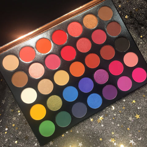 Beauty Glazed 35 Color Studio matte Eyeshadow Power Palette Glitter Highlighter Shimmer Make up Pigment Eye Shadow Pallete