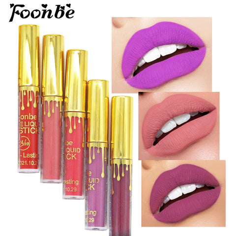 Matte Liquid Lipstick Makeup Nude Matt Lip Gloss Lips Make up Cosmetics Waterproof Velvet Lip Stick Smooth Lipgloss Sample Size