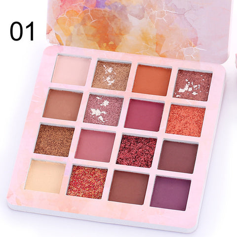 16 Colors Fashion Eyeshadow Palette Matte EyeShadow  Palette Glitter Eye Shadow MakeUp Nude Make up Set Cosmetics TSLM1