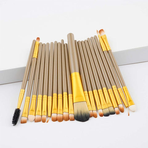 20ps cbrown/Rose Gold  Make up Brush Tools kit Eye Liner natural-synthetic hair beauty brushes good quality makeup tools brushes