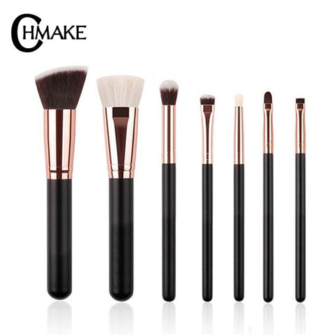 CHMAKE brushes Rose Gold / Black Professional Makeup Brushes Set Foundation Powder Make up brush Pencil natural-synthetic hair