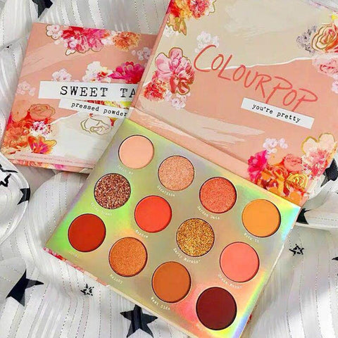 XY Fancy 12 Color Glitter Shimmer Eye Shadow Powder Matte Eyeshadow Palette Cosmetic Makeup