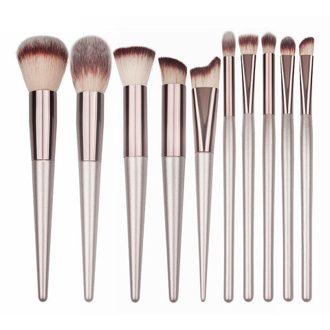 Luxury Wooden Makeup Brushes for Foundation Powder Blush Eyeshadow Concealer Lip Eye Make Up Brush Cosmetics Beauty Tools