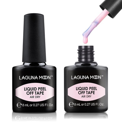 Lagunamoon 8ML Nail Latex Pink Peel Off Tape Liquid Glue Gellak Lucky Lacquer Protect Nails Polish Block Nail Varnish