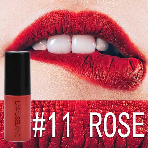 12 Colors Nude Lip Gloss Waterproof Velvet Red Lips Tint Long-Lasting Matte Liquid Lipgloss Blusher Moisturizing Makeup TSLM1