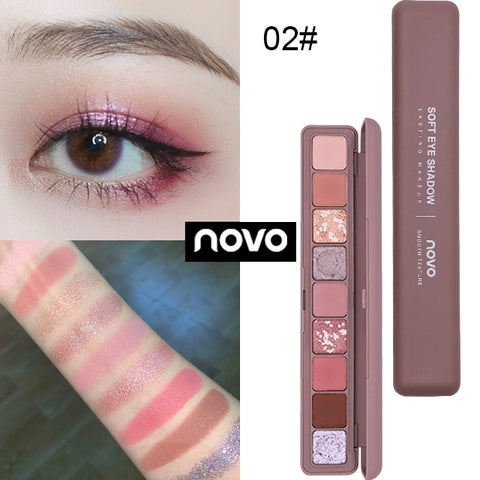 Novo Brand 9 Colors Glitter Galaxy Eye Shadow Palette Pigment Shimmer Matte Eyeshadow Makeup Flash Shine Diamond Shadow Kit