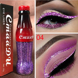 New Professional Makeup Cola Liquid Shimmer Glitter Eyes Liner Waterproof Easy To Wear Make Up Pigment Red White Gold Eyeliner