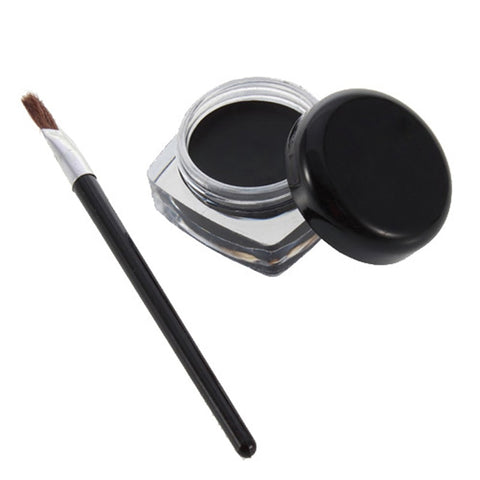 Black Color Eyeliner Gel with Brush Easy to Wear Makeup Long-lasting Waterproof Eye Liner Make up Beauty Women Cosmetics TSLM2