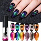 Four Lily 9D Galaxy Cat Eye UV Gel Polish Chameleon Magnetic Soak Off Nail Art Gel Lacquer 5ml Long Lasting Nail Art Gel Varnish